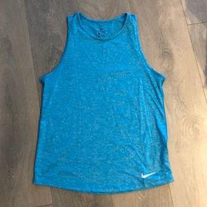 Blue Nike workout top